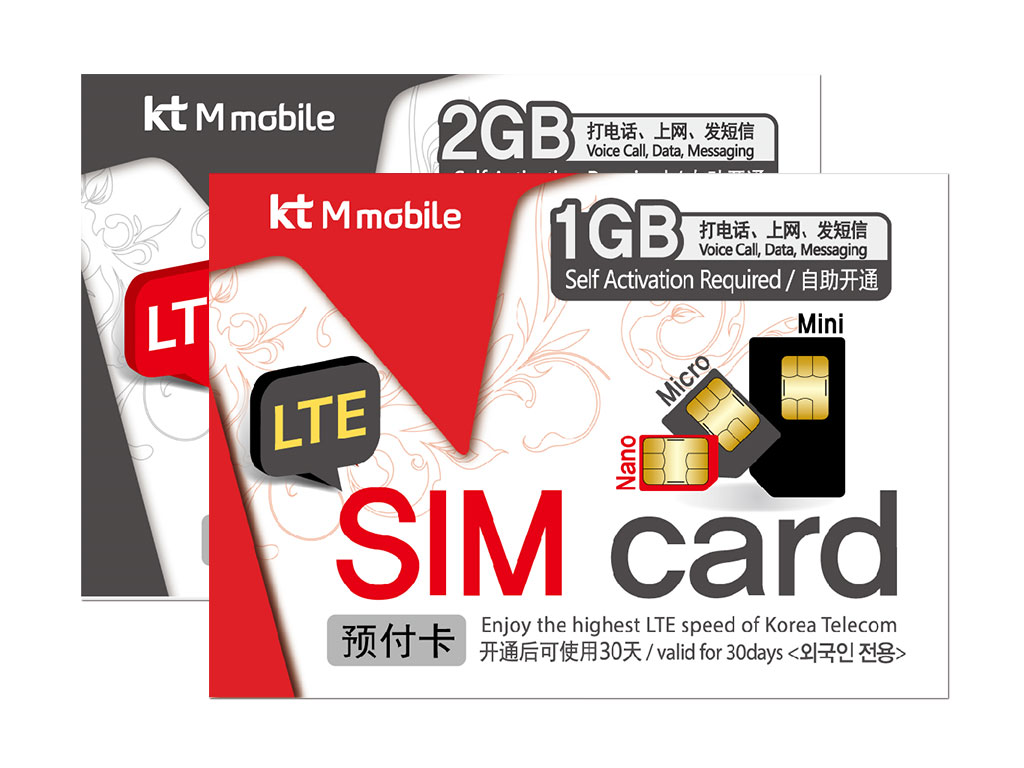 Korea SIM Card Red